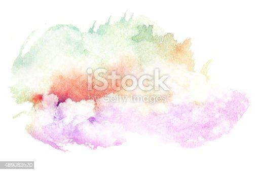 490140226istockphoto Watercolor illustration of cloud. 489083520