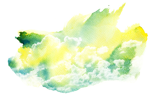 490140226 istock photo Watercolor illustration of cloud. 489083596