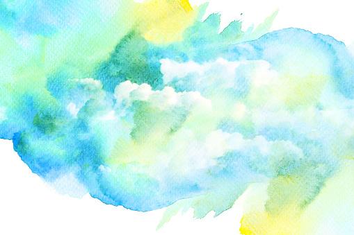 490140226 istock photo Watercolor illustration of cloud. 489083808