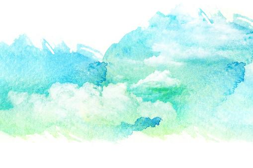 490140226 istock photo Watercolor illustration of cloud. 489084286