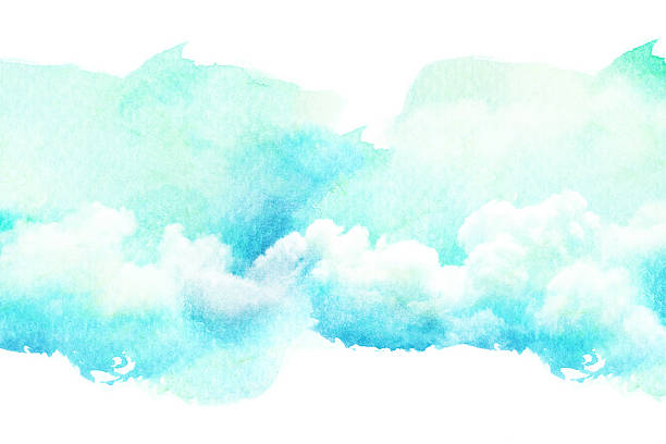 Illustrazione ad acquerello di cloud. - foto stock
