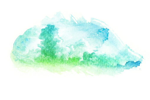 490140226 istock photo Watercolor illustration of cloud. 490140644
