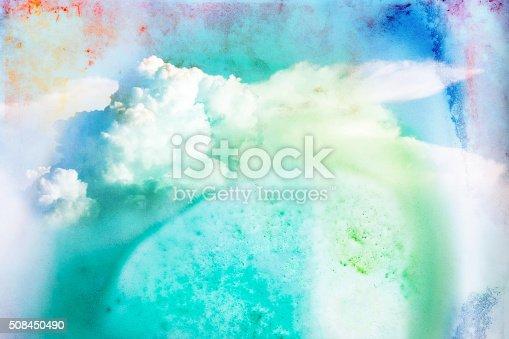 istock Watercolor illustration of cloud. 508450490