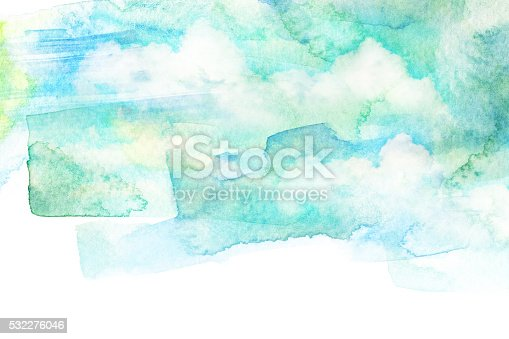 istock Watercolor illustration of cloud. 532276046