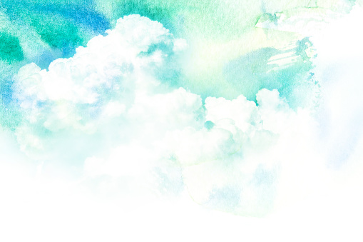 istock Watercolor illustration of cloud. 541305520