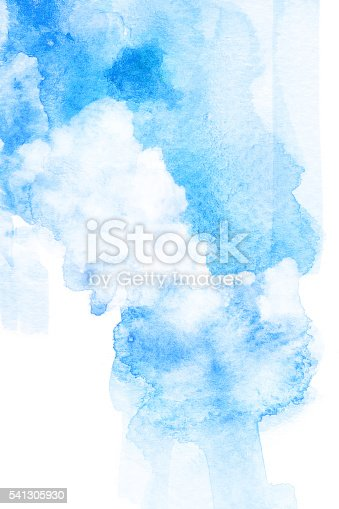istock Watercolor illustration of cloud. 541305930