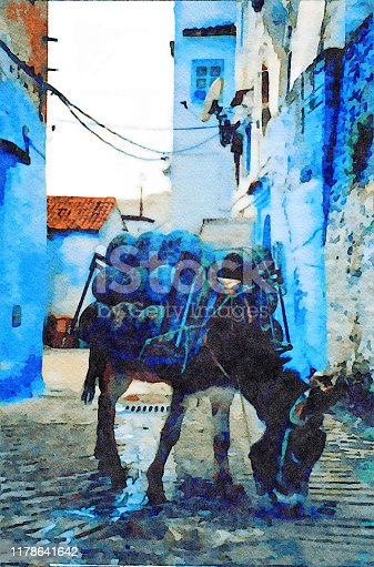 This is my Photographic Image of a Moroccan Scene in a Watercolour Effect. Because sometimes you might want a more illustrative image for an organic look.