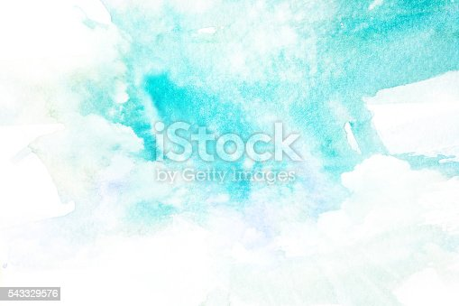 istock Watercolor illustration of sky with cloud. 543329576