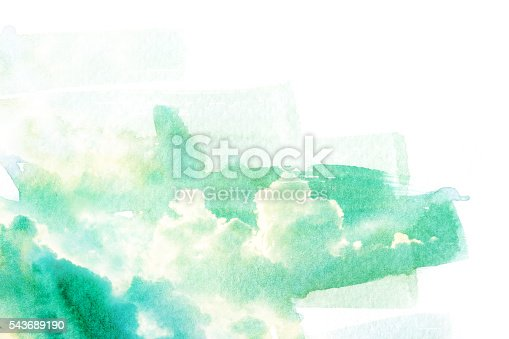 541305520 istock photo Watercolor illustration of sky with cloud. 543689190