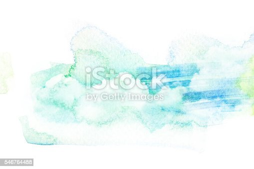 istock Watercolor illustration of sky with cloud. 546764488