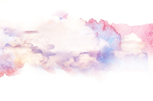 490140226 istock photo Watercolor illustration of sky with cloud. 592392116
