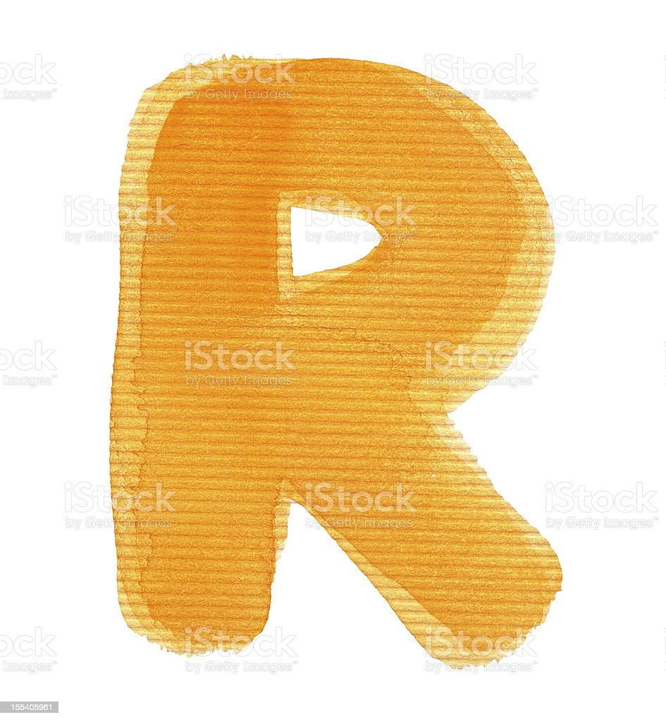 Watercolor letter royalty-free stock photo