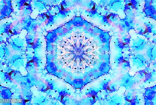 1011152398 istock photo Watercolor Mandala Illustration 1177121732