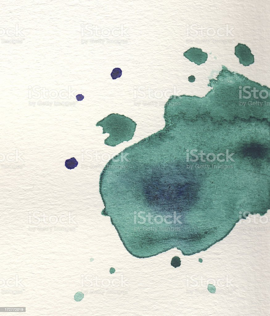 Watercolor on paper 3 royalty-free stock photo