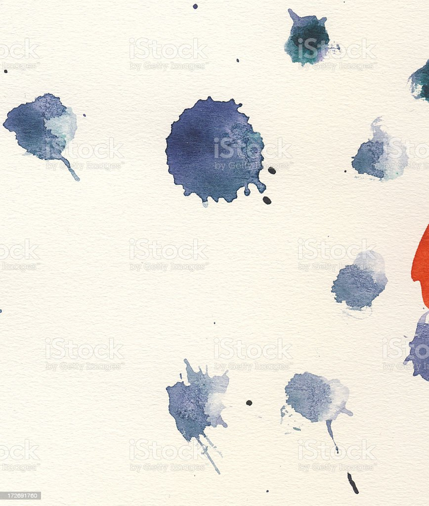Watercolor on paper royalty-free stock photo