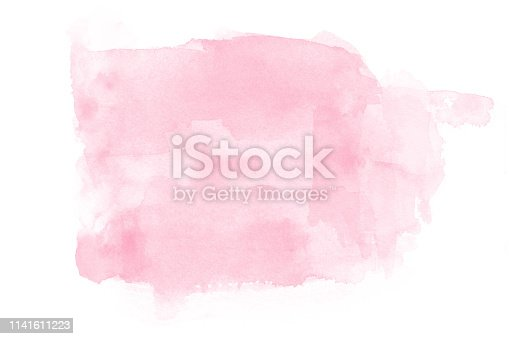 Abstract coral watercolor on white background