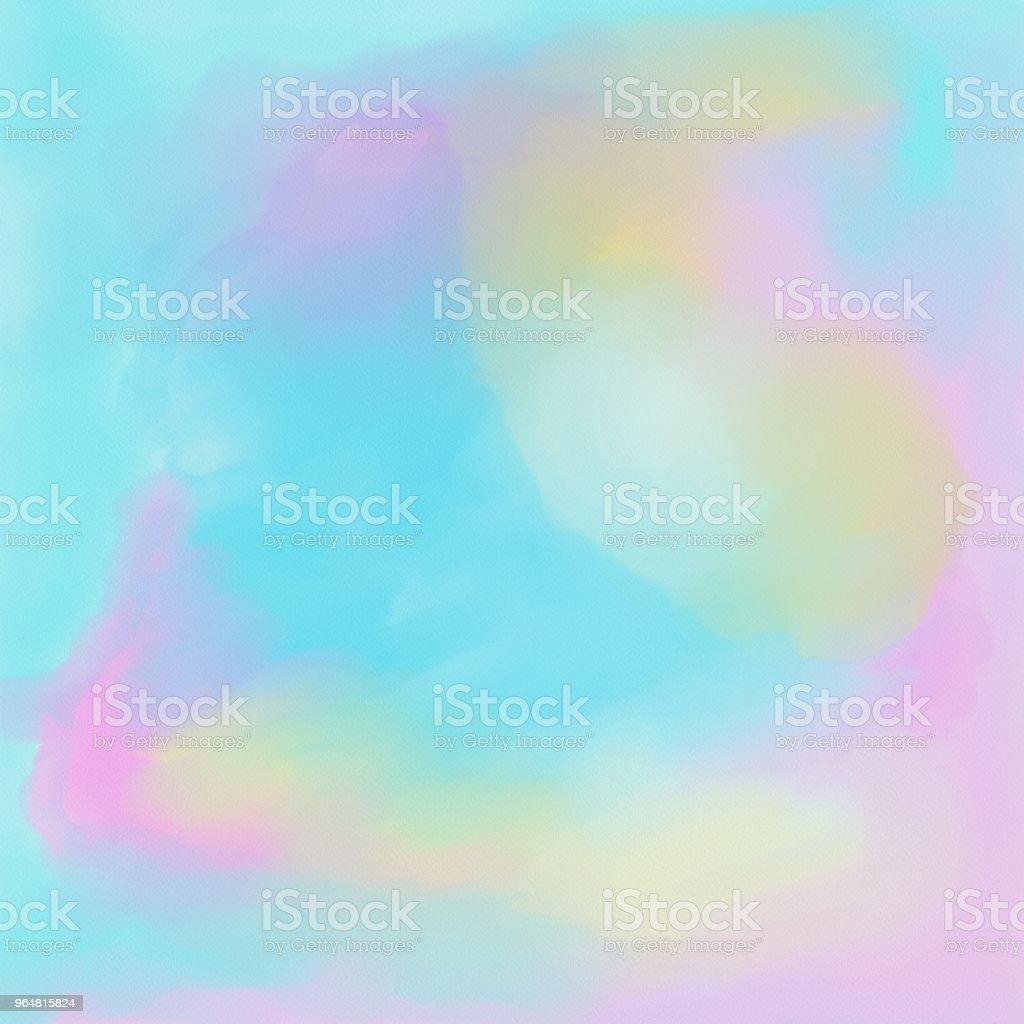 watercolor painbrush strokes on white background - Illustration royalty-free stock photo