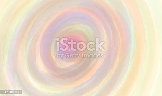 Watercolor paint abstract pattern with colorful ellipse Between the colors red pink violet yellow green orange blue seeping together on paper for background