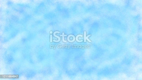 852187968 istock photo watercolor paint blue 1211684847