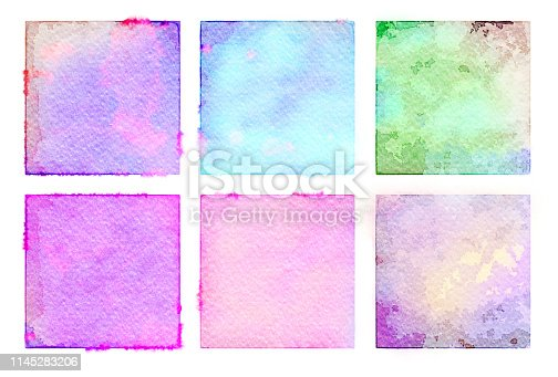 1131857558istockphoto Watercolor painted abstract squares 1145283206
