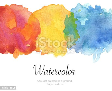 649796262 istock photo Watercolor painted background. Isolated. Paper texture. 648918808