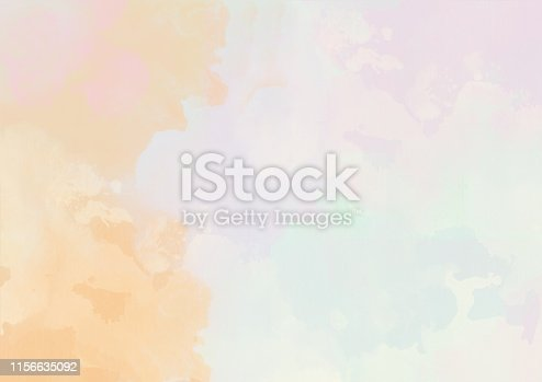 istock Watercolor painted fantasy clouds background 1156635092