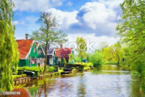 istock Watercolor Painting, Amsterdam 1200045749