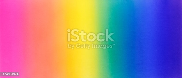Watercolor painting background of rainbow color gradation.