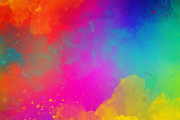 Watercolor Painting Background stock photo