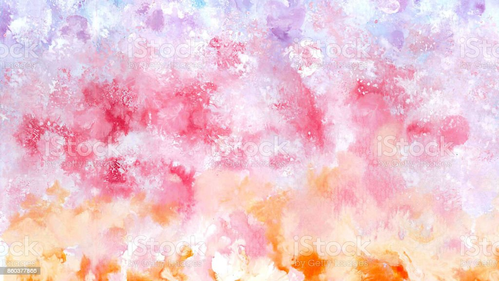 Watercolor painting by color tone - Image for Artwork stock photo