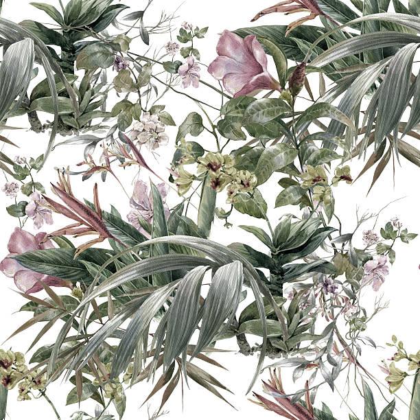 Watercolor painting of leaf and flowers seamless pattern picture id596356678?b=1&k=6&m=596356678&s=612x612&w=0&h=jniacmxjsrixu5r9gi9jip81hgkfu34o89i2vwwwe o=