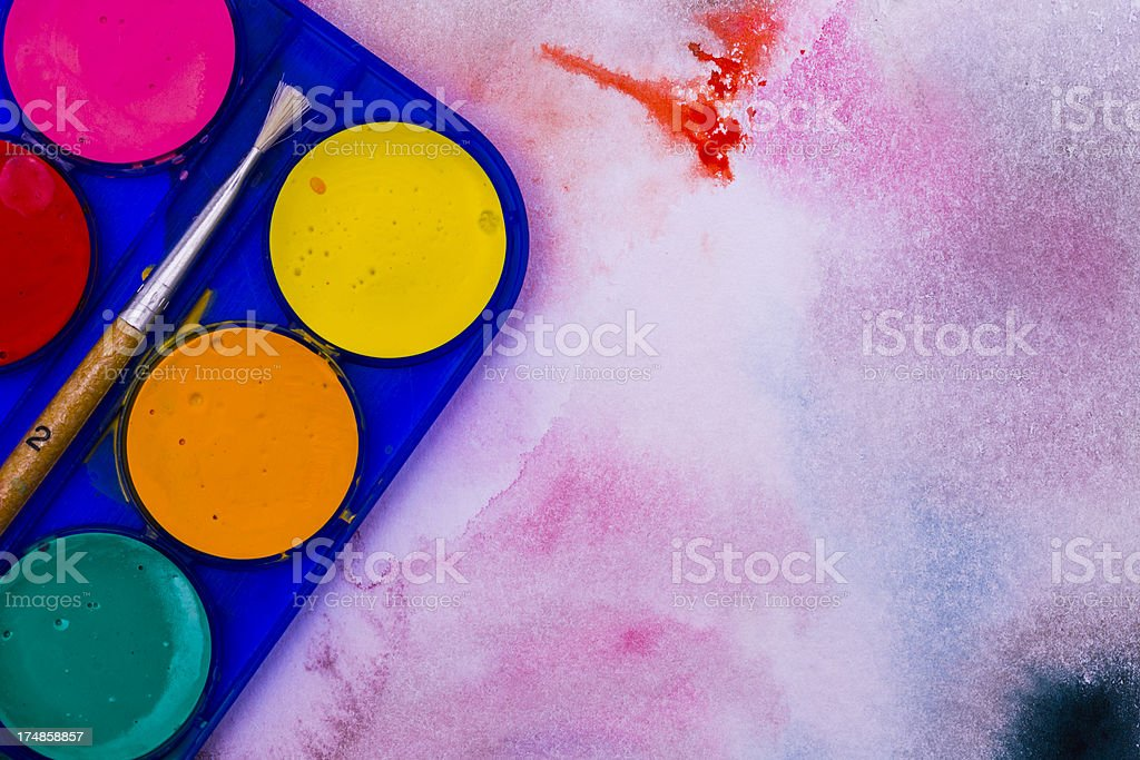 Watercolor painting royalty-free stock photo