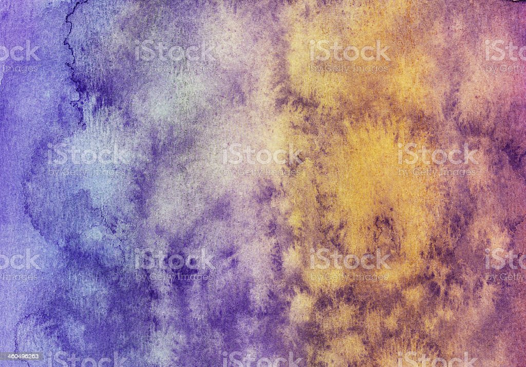 Watercolor painting with multiple colors and paint splashes royalty-free stock photo
