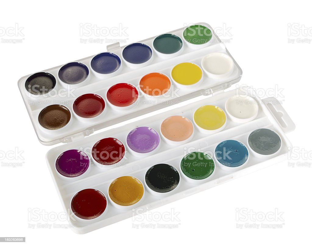 Watercolor paints royalty-free stock photo