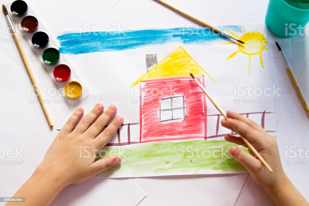 Watercolor picture royalty-free stock photo