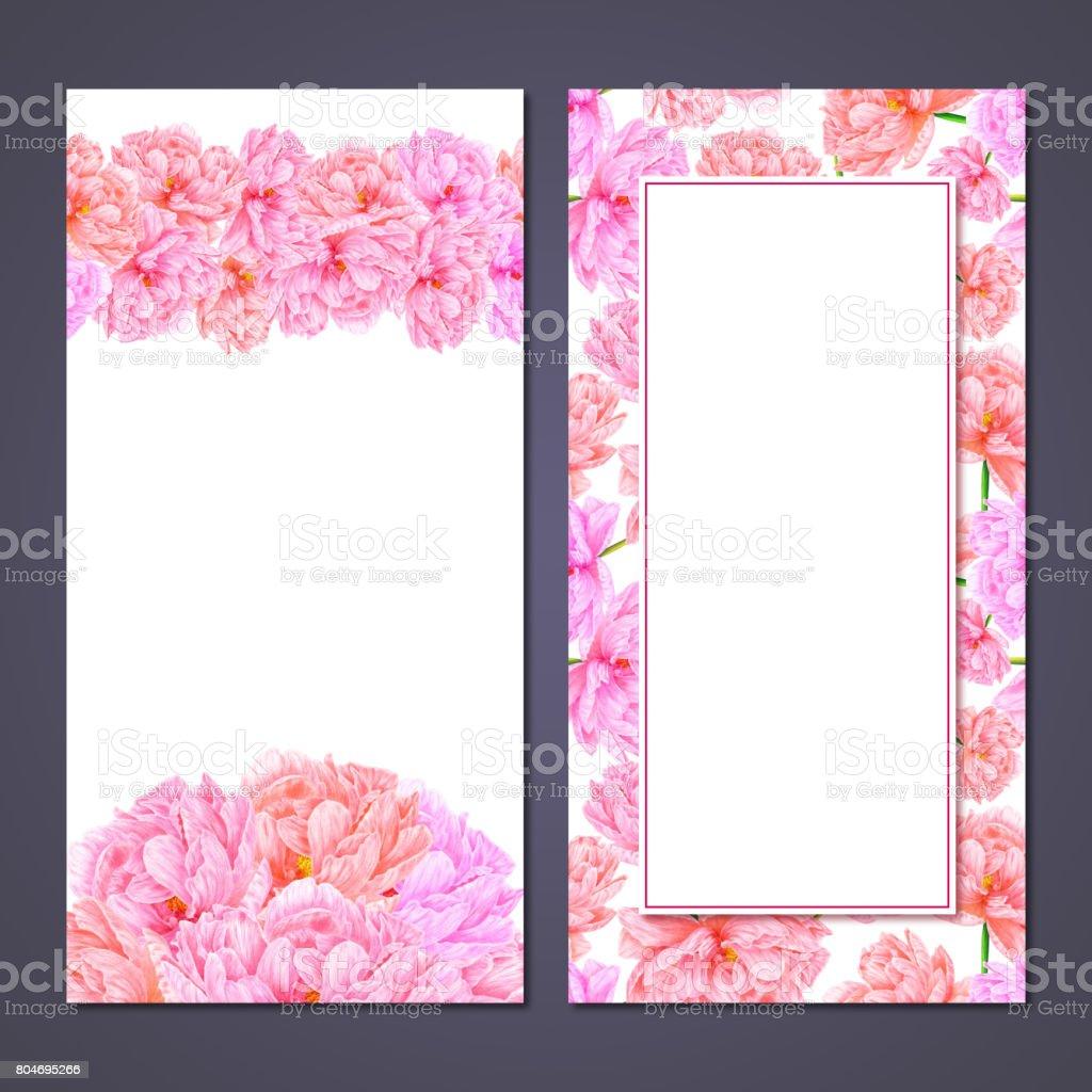 Aquarell Rosa Pfingstrose Botanische Kunst Vorlage Für Eine