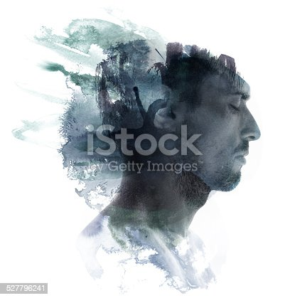 498089686 istock photo Watercolor portrait 527796241