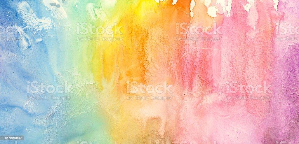 rainbow pintura de acuarela - foto de stock
