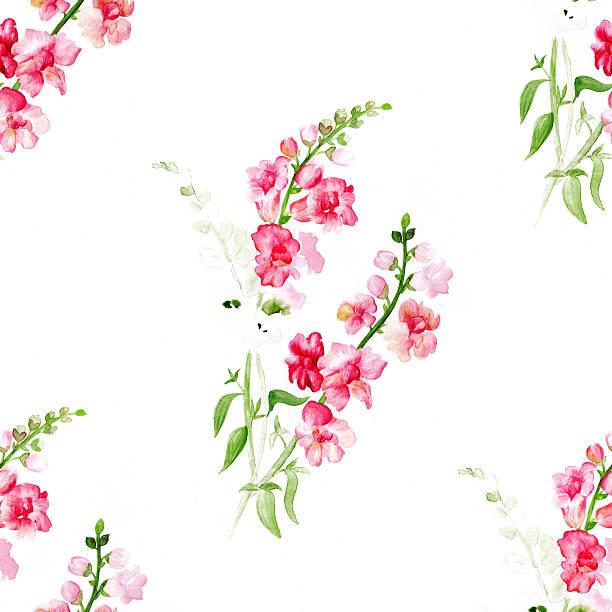 Watercolor red flowers pattern – Foto
