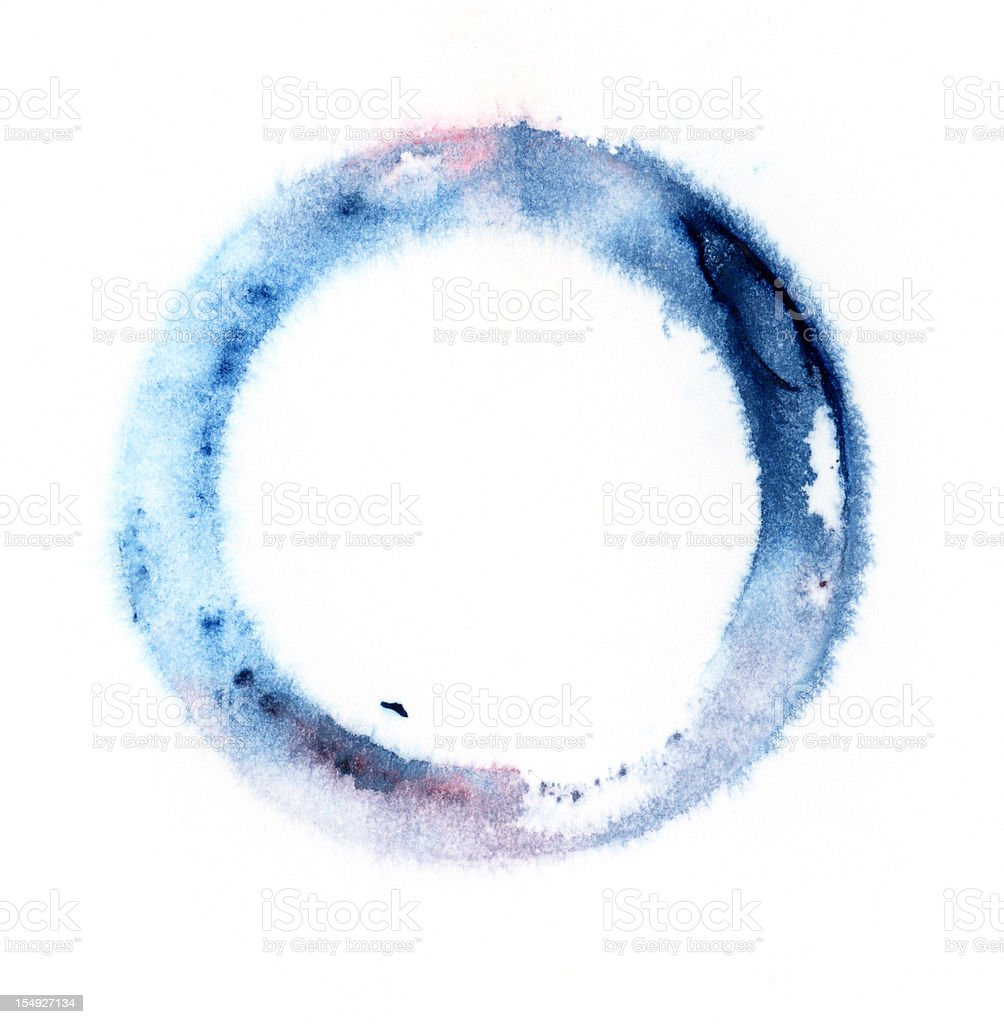 Watercolor ring royalty-free stock photo