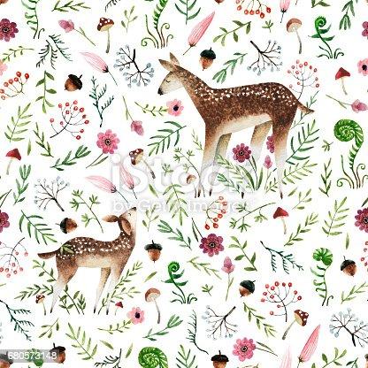 istock Watercolor seamless pattern 680573148
