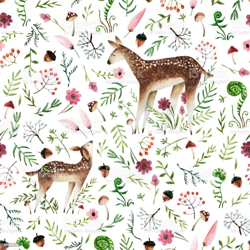 Watercolor seamless pattern stock photo
