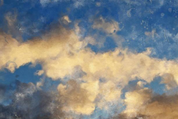 aquarell himmelshintergrund - himmel bilder stock-fotos und bilder