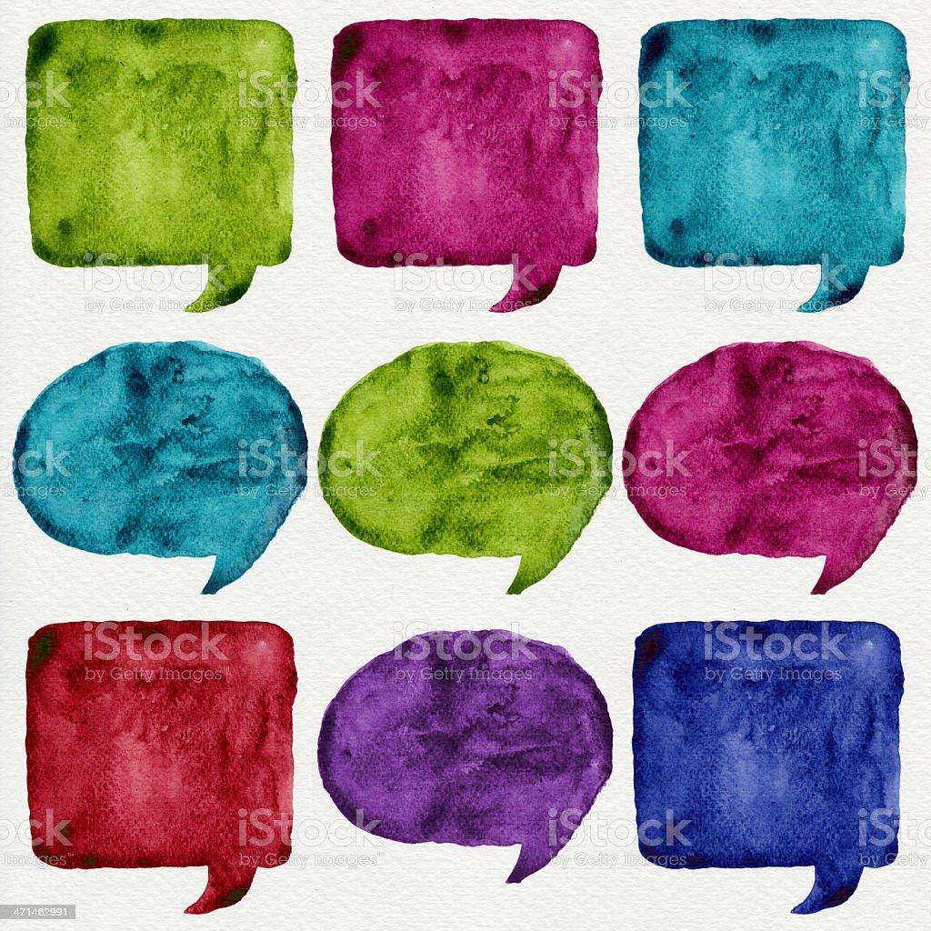 Watercolor speech bubble royalty-free stock photo