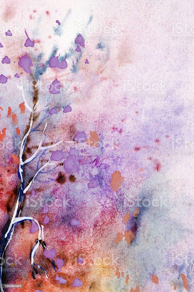 Watercolor - Spring Blossom stock photo