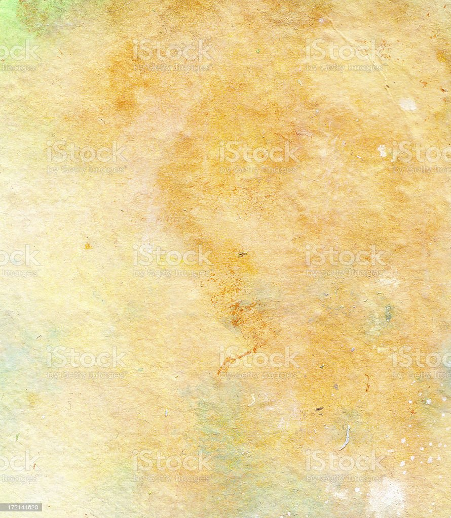 Watercolor Stained Textured Paper Background royalty-free stock photo