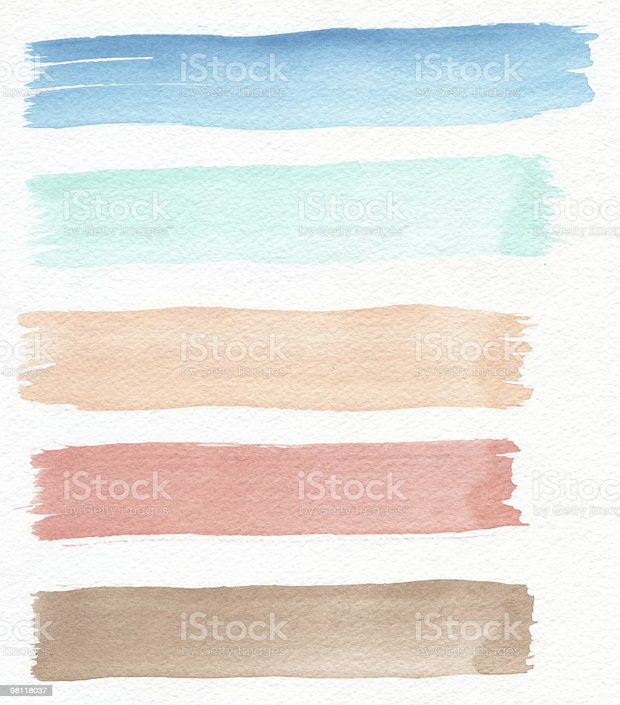 Watercolor Stripes royalty-free stock photo