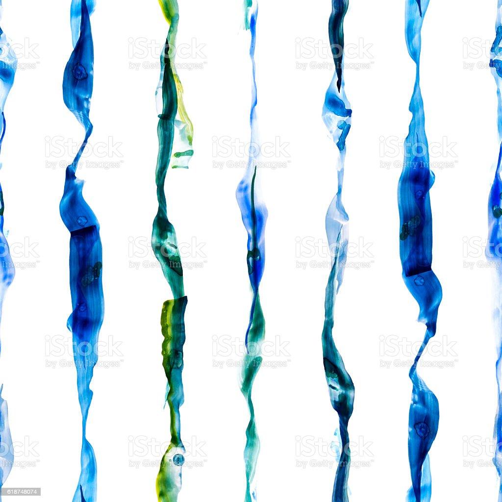 Watercolor stripes seamless pattern - foto de acervo