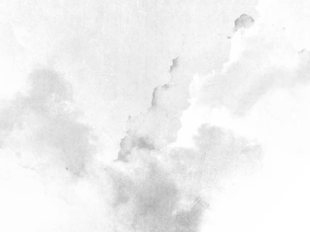 Watercolor texture - abstract grey white background Light grunge monochrome backdrop toned image stock pictures, royalty-free photos & images
