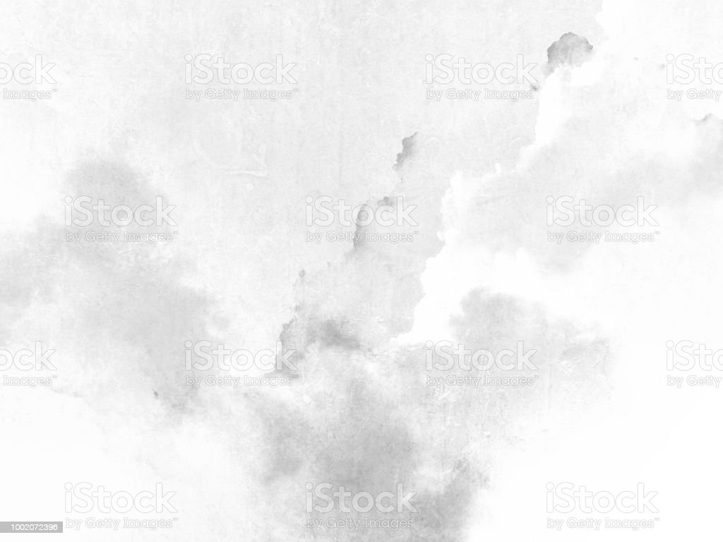Watercolor texture - abstract grey white background stock photo